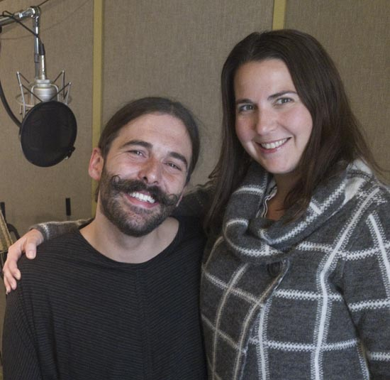 Jonathan Van Ness with Deana Winter at Wheeler Audio studios in Kansas City